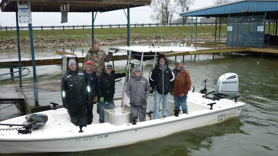 The fishing guides and volunteers who participated in the crappie stocking project are Vince Anderson, Richard Tatsch, Butch Terpe, Roy Hammonds, James Tucker, LaMarr Anderson and Johnny Heneke. Photo: Stow-A-Way Marina / Submitted