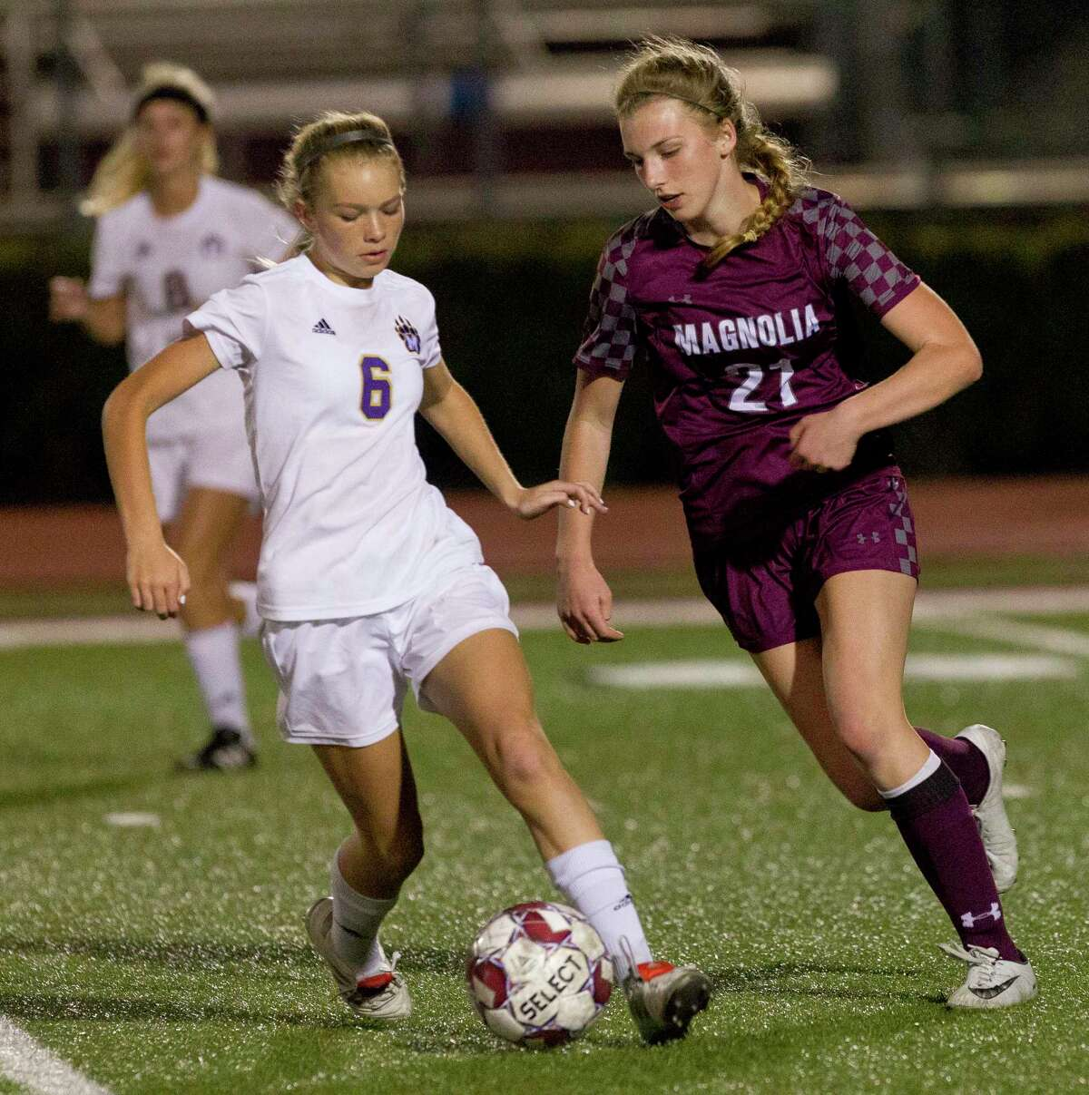 Magnolia defender Katie Clark (21) is one of the key returners this season.