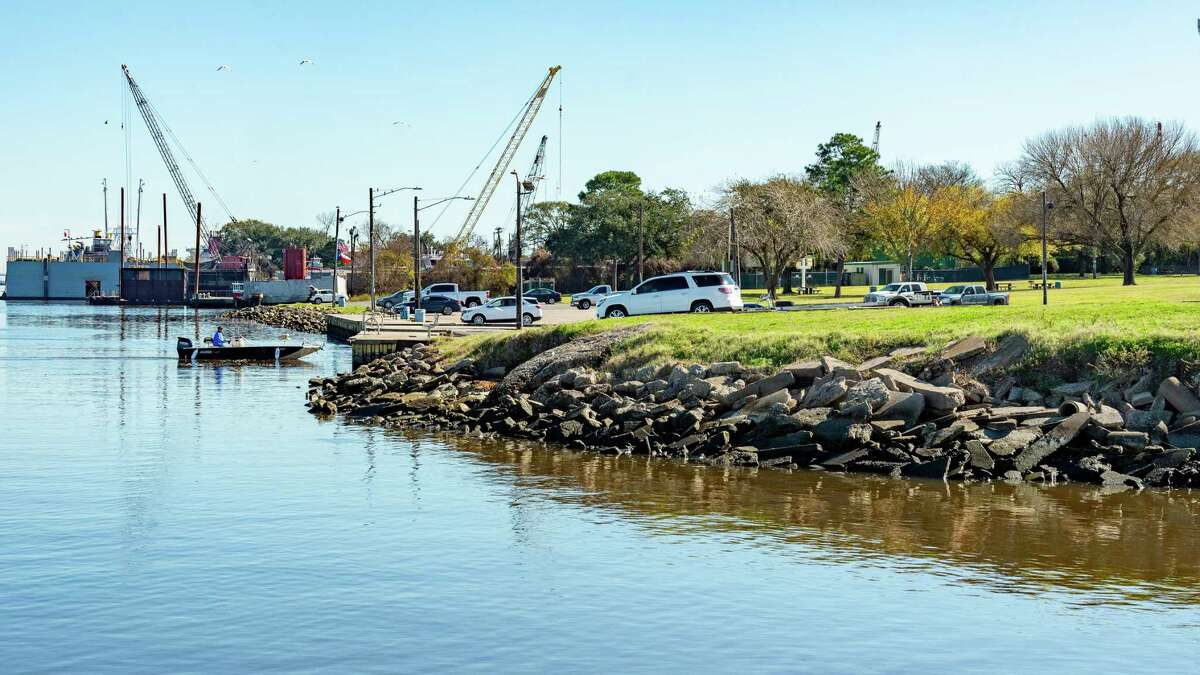 The city of Port Neches is looking into constructing a walkway along the riverfront. Photo taken onTuesday, December 24, 2019. Fran Ruchalski/The Enterprise