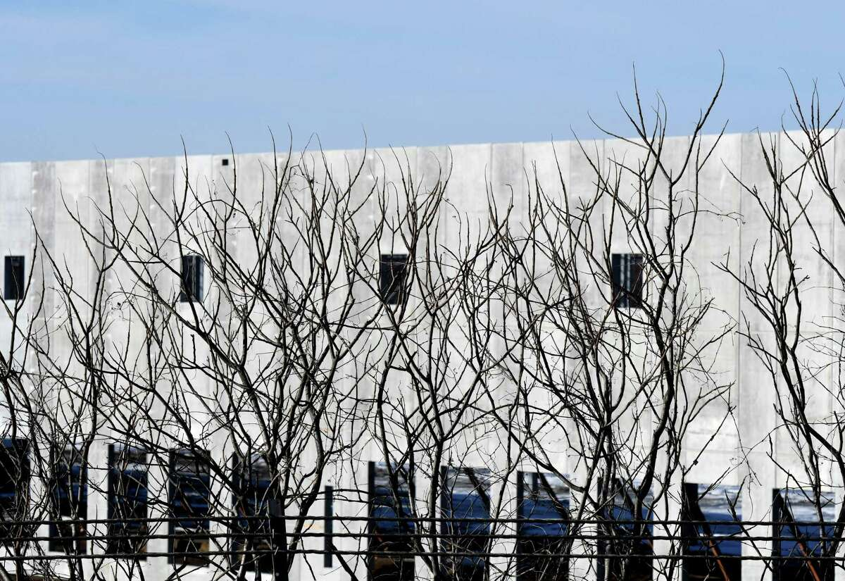 An Amazon warehouse is under construction on Tuesday, Dec. 24, 2019, off Route 9 in Schodack, N.Y. (Will Waldron/Times Union)