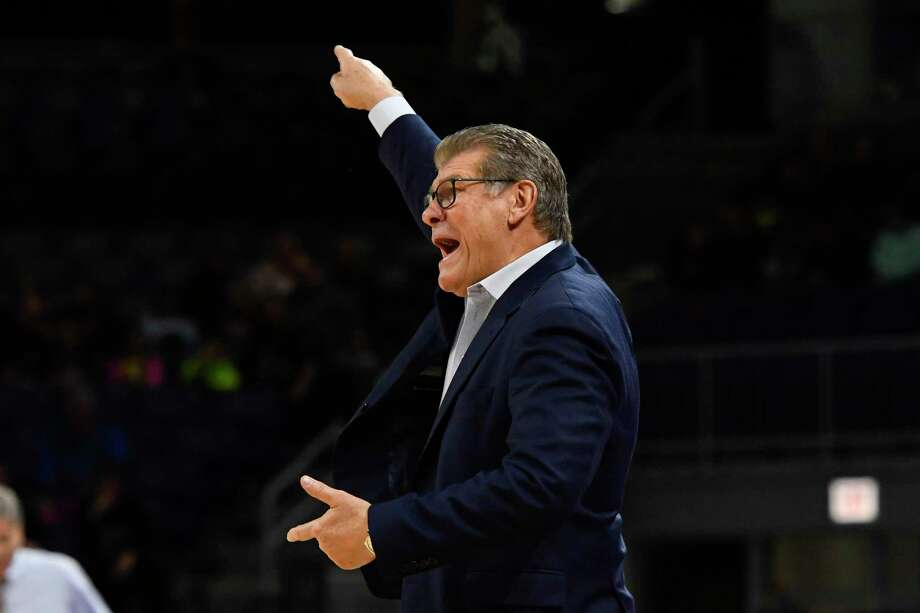 UConn coach Geno Auriemma will be back no the sideline on Thursday when the Huskies host Wichita State. Photo: Matt Marton / Associated Press / Copyright 2019 The Associated Press. All Rights Reserved.