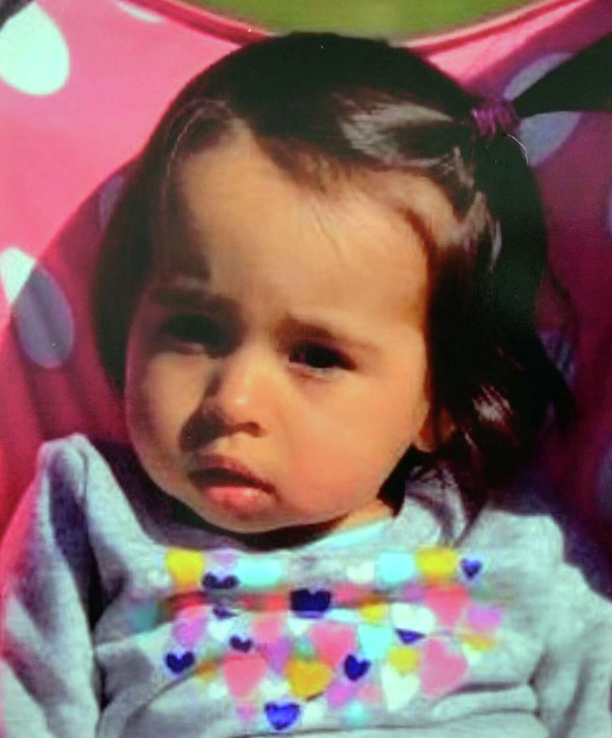 A photo of missing one-year-old Vanessa Morales is released by the Ansonia Police Department during a press conference held at Ansonia City Hall in Ansonia, Conn., on Tuesday Dec. 3, 2019. Morales is missing after the body of a woman police believe is the mother was found deceased at a home on Myrtle Avenue.