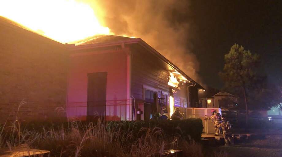 Cy-Fair firefighters tackles a fire inside an apartment complex in the 14100 block of Muescke Road on Thursday, Jan. 2, 2020. Photo: Cy-Fair Fire Department Lt. Daniel ArizpeCy-Fair Fire Department Lt. Daniel Arizpe