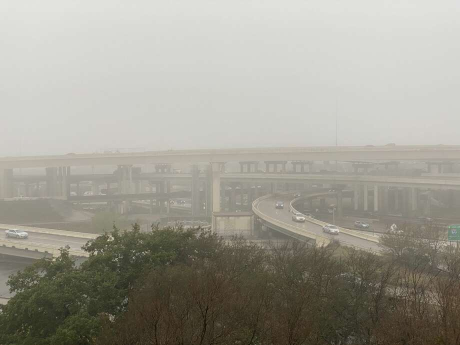 Fog is seen over the Southwest Freeway interchange with West Loop 610 in Houston on Thursday, Jan. 2, 2019. Photo: Jay R. Jordan / Houston Chronicle