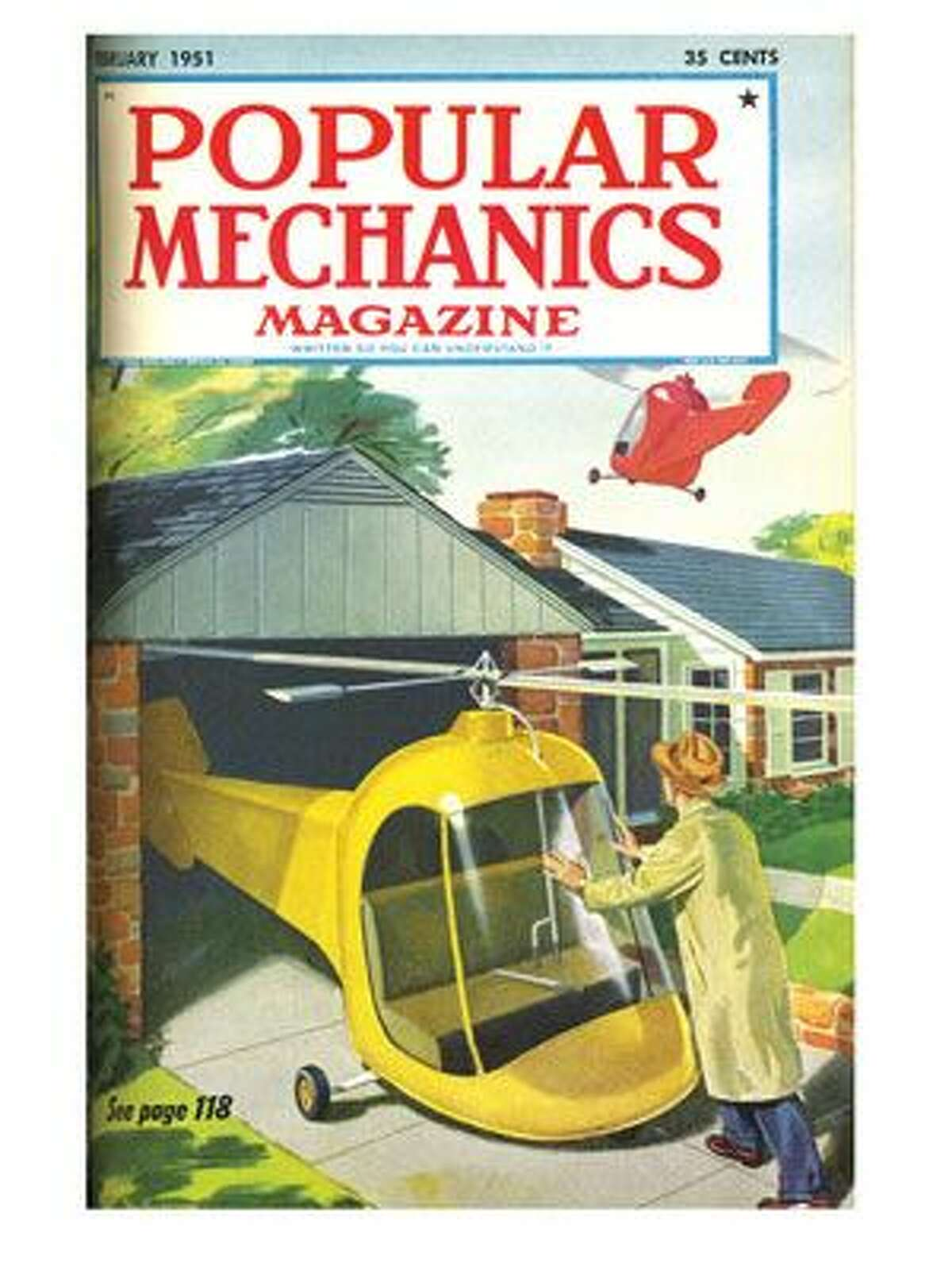 We would all have personal helicopters Imagine flying over the traffic in 610 instead of being stuck in it! That's what Popular Mechanics predicted in 1951: