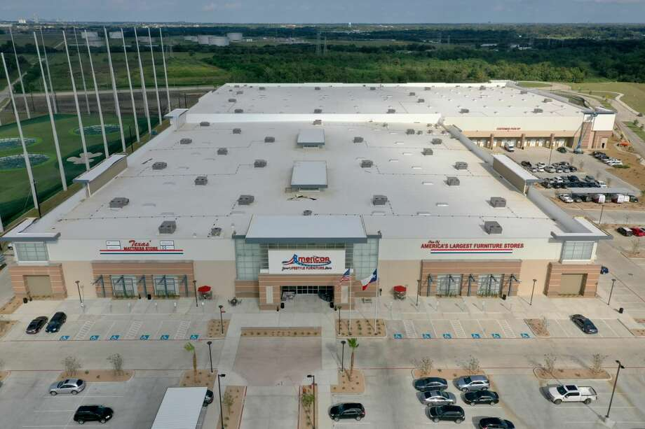 American Furniture Warehouse opened a 355,000-square-foot showroom and warehouse in Webster in September 2019. Photo: Baker Katz