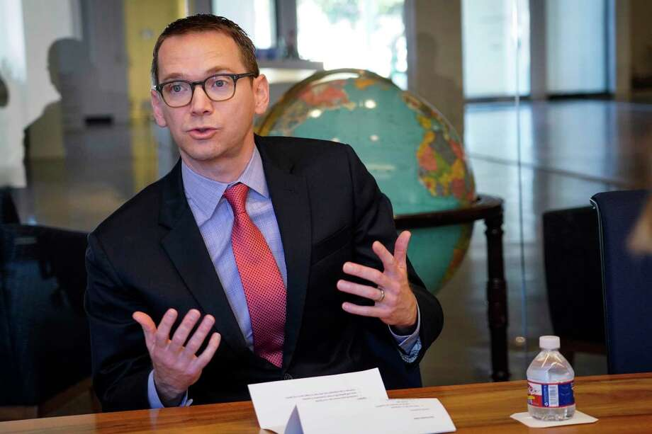 Texas Education Commissioner Mike Morath speaks to the Houston Chronicle's editorial board on Tuesday, Dec. 17, 2019, in Houston. Photo: Brett Coomer, Houston Chronicle / Staff Photographer / © 2019 Houston Chronicle
