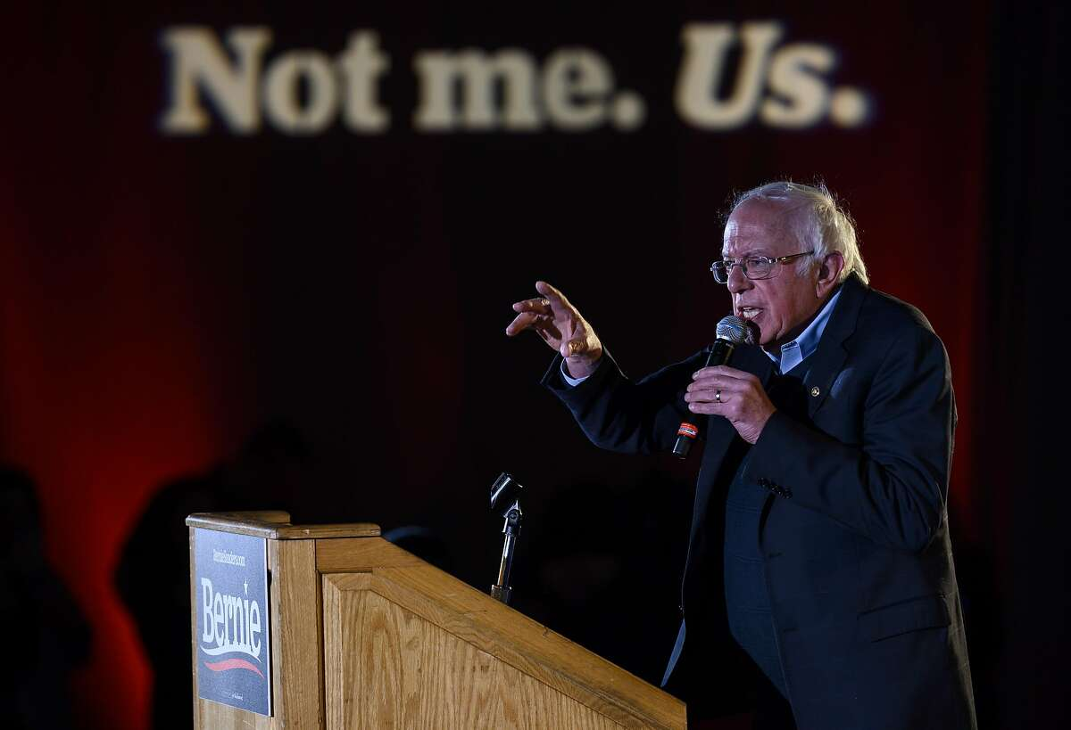 Democratic presidential candidate Sen. Bernie Sanders (I-VT) speaks at a New Year's Eve campaign event on December 31, 2019 in Des Moines, Iowa. The focus of many democratic presidential campaigns will be on Iowa in the coming weeks before the caucus on February 3, 2020.