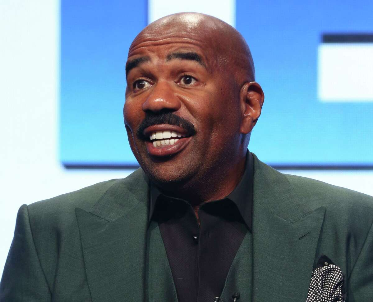 FILE - In this Aug. 3, 2017, file photo, host/executive producer Steve Harvey participates in the