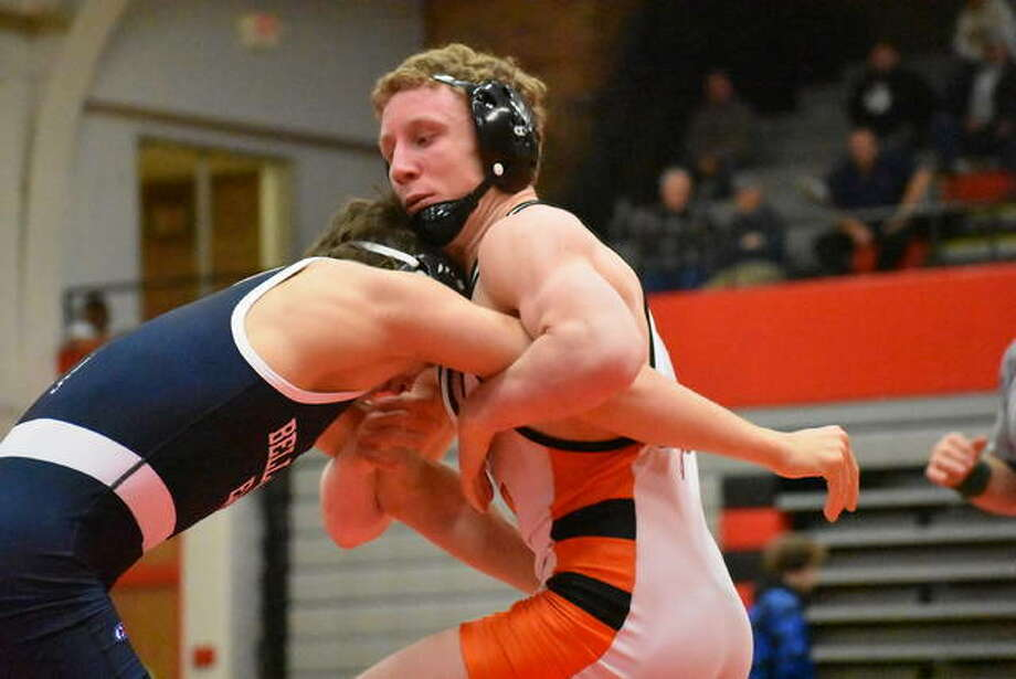 Edwardsville wrestler Luke Odom is a two-time champion and three-time finalist at the Cheesehead Invitational. Photo: Intelligencer Sports Staff