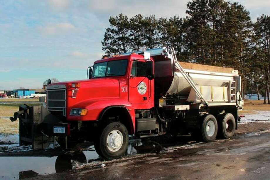 Road commission officials in Mecosta and Osceola counties are keeping an eye on their salt supply for the season as the price of road salt increased by about 15% per ton from last year. (Pioneer photo/Taylor Fussman)