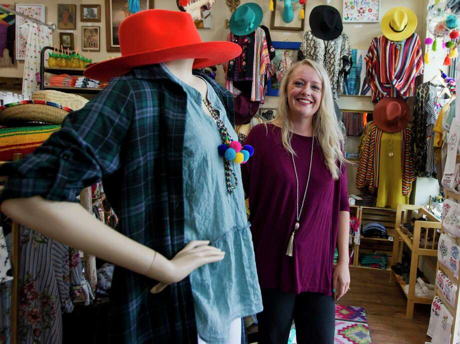 Morgan Calhoun, owner of Sweet Texas Treasures, poses for a portrait at the small boutique shop's new location on North Main Street, Tuesday, Aug. 6, 2019, Conroe. Photo: Jason Fochtman, Houston Chronicle / Staff Photographer / Houston Chronicle