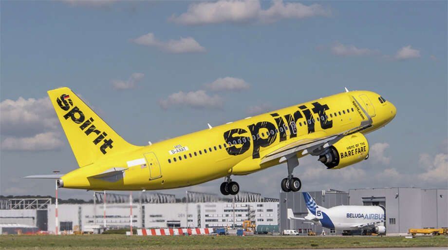 Spirit Airlines will start halting airlines from Bradley International Airport, as well as other airports in New York and New Jersey, in response to the coronavirus outbreak. Photo: Spirit Airlines