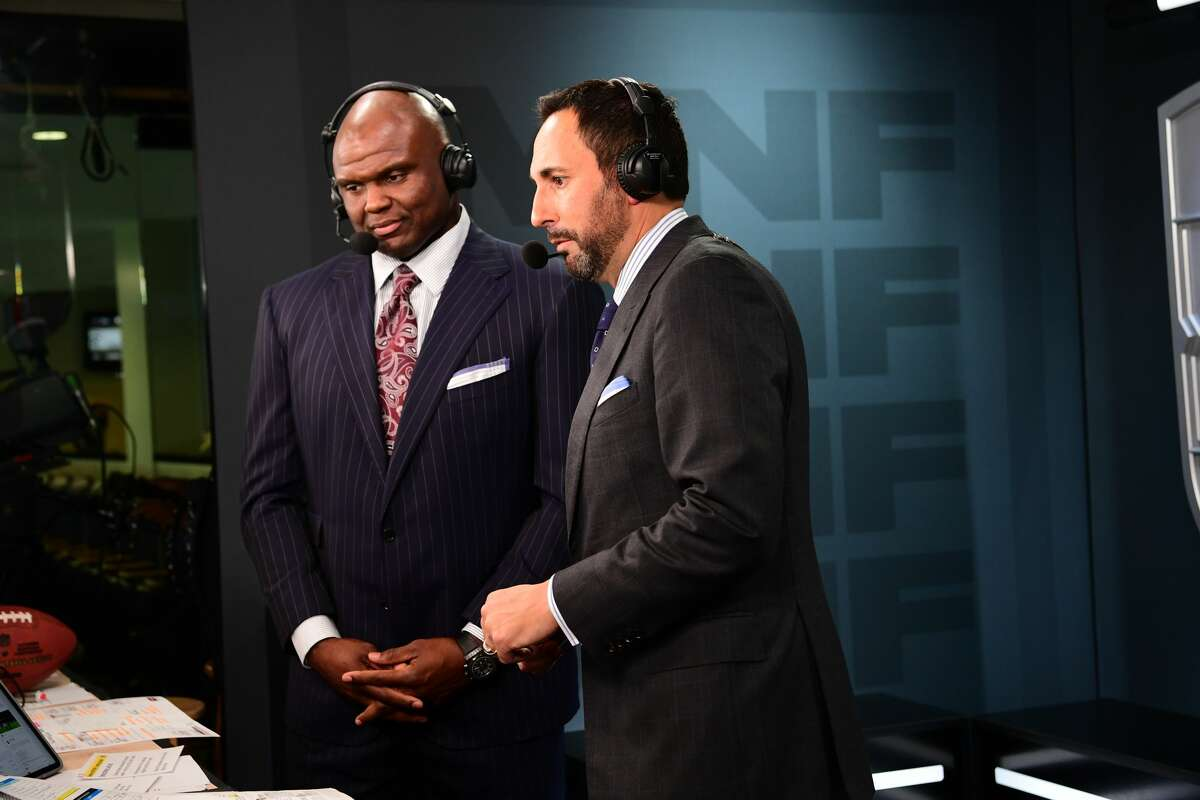 ESPN's Booger McFarland (left) and partner Joe Tessitore will call Saturday's Texans-Bills AFC wild-card game. McFarland said the Texans' defense has been weakened by the departures of Jadeveon Clowney and Tyrann Mathieu.