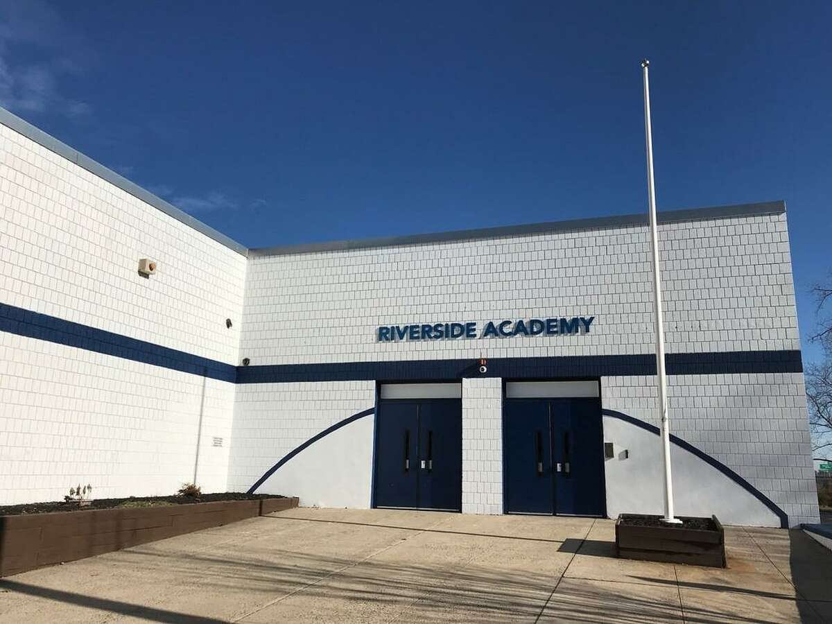 The exterior of Riverside Education Academy on Hallock Ave. on Jan. 2, 2020.