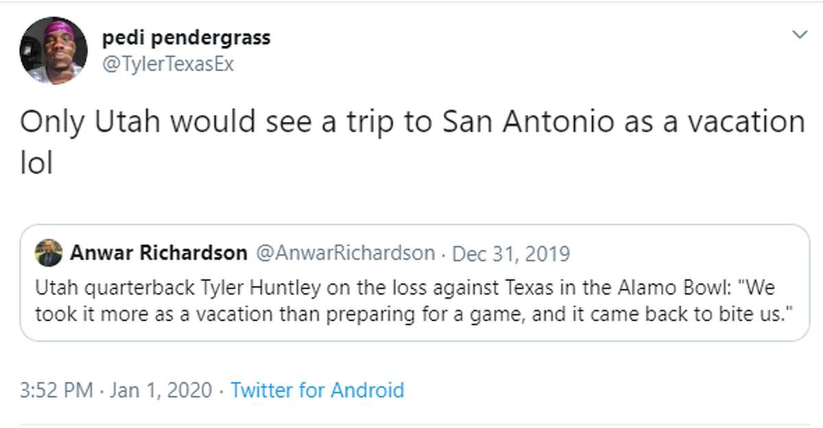 @TylerTexasEx: Only Utah would see a trip to San Antonio as a vacation lol