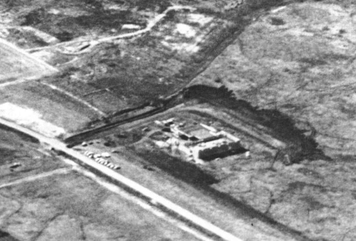 View along Hillcroft near what's now Harwin Drive, circa 1960.