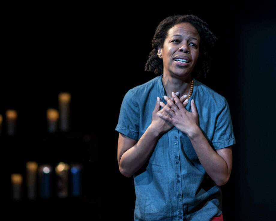 "Nilaja Sun wrote and performs ""Pike St."" at Hartford Stage. Photo: Teresa Castracane / Contributed Photo / ©Teresa Castracane 2017"