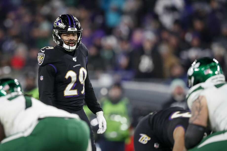 PHOTOS: See when Earl Thomas was an East Texas high school star at West Orange-Stark Earl Thomas of the Baltimore Ravens lines up against the New York Jets during the second half at M&T Bank Stadium on December 12, 2019 in Baltimore, Maryland. (Photo by Scott Taetsch/Getty Images) Photo: Scott Taetsch/Getty Images