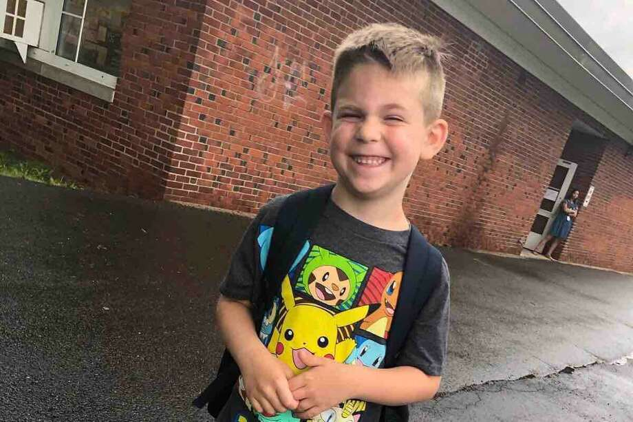 On Thursday, Jan. 2, 2020, every school in East Haven invited kids to wear yellow and contributed $1 to help raise money for Trenton O'Brien, 7, who last year was a first grader at Momauguin Elementary School, and his continuing fight against a rare and nearly always fatal brain tumor. Photo: Contributed
