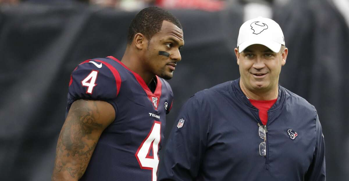 Texans QB Deshaun Watson and coach Bill O'Brien will get a second crack at notching their first playoff win together Saturday against Buffalo.