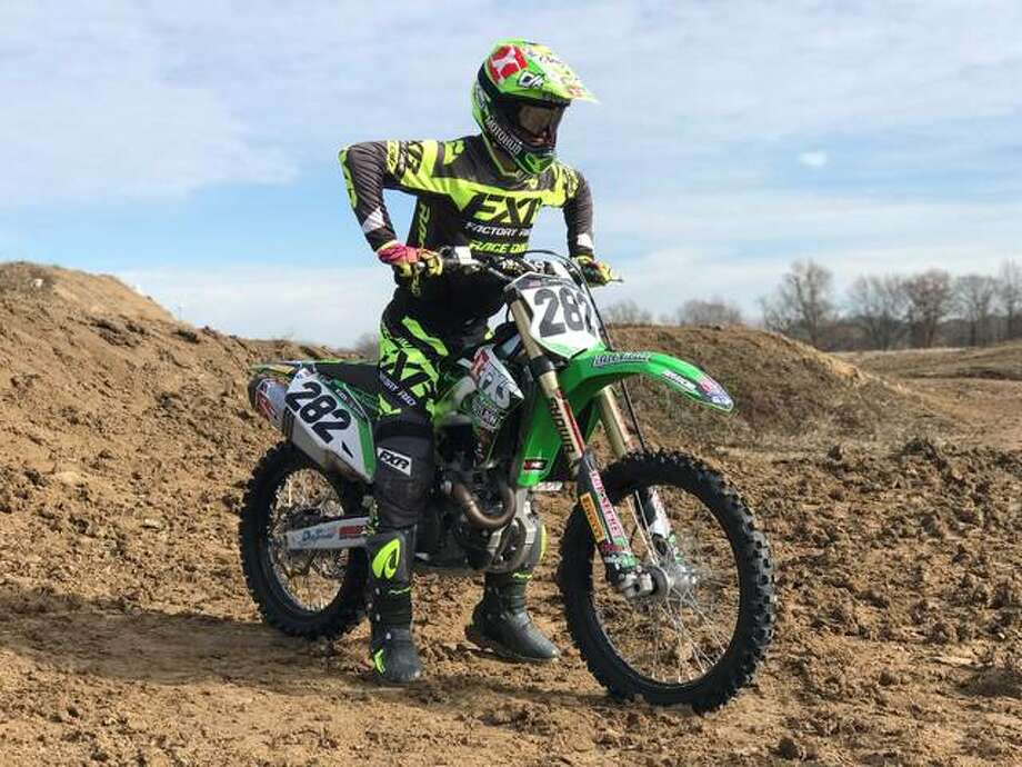 """Supercross competitor Theodore """"Bubba"""" Pauli, of Edwardsville, turned pro at the end of 2013 and manages Monster Energy AMA Supercross Race Team TXS Productions. Photo: For The Intelligencer"""