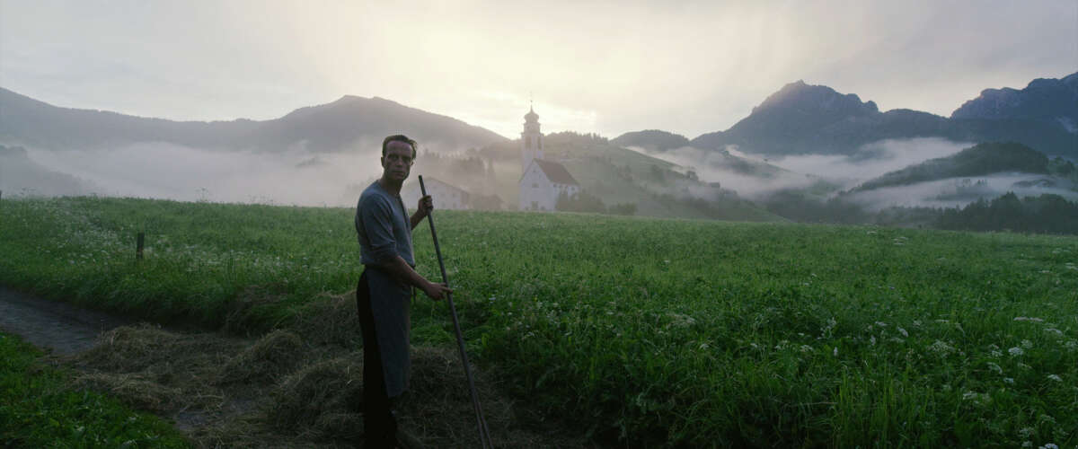 """This image released by Fox Searchlight Pictures shows August Diehl in a scene from the film """"A Hidden Life."""" (Reiner Bajo/Fox Searchlight Pictures via AP)"""