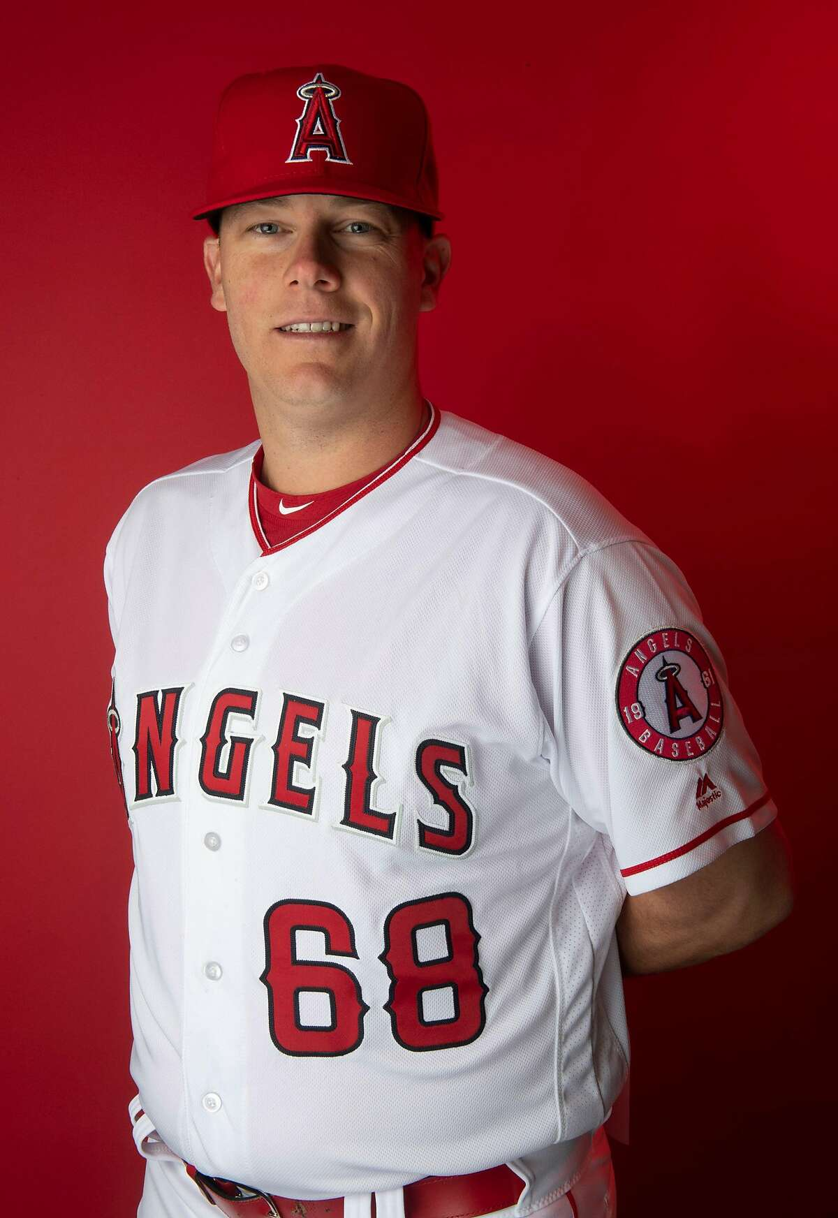 LOS ANGELES, CA - February 19: Los Angeles Angeles coach Andrew Bailey during photo day at Tempe Diablo Stadium on Tuesday, February 19, 2019 in Tempe, Arizona. (Photo by Keith Birmingham/MediaNews Group/Pasadena Star-News via Getty Images)