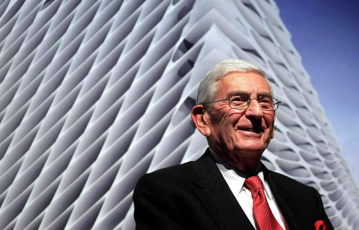 Billionaire Eli Broad attends the unveiling of the Broad Art Foundation contemporary art museum designs in Los Angeles, Thursday, Jan. 6, 2011.