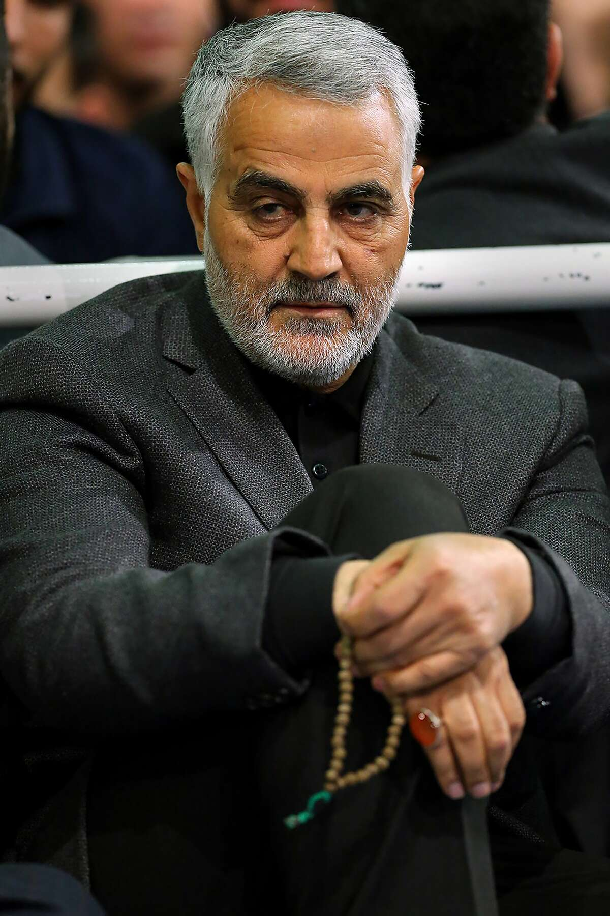 A photo provided by the Office of the Iranian Supreme Leader shows Maj. Gen. Qasem Soleimani in Tehran, Iran, in 2015.