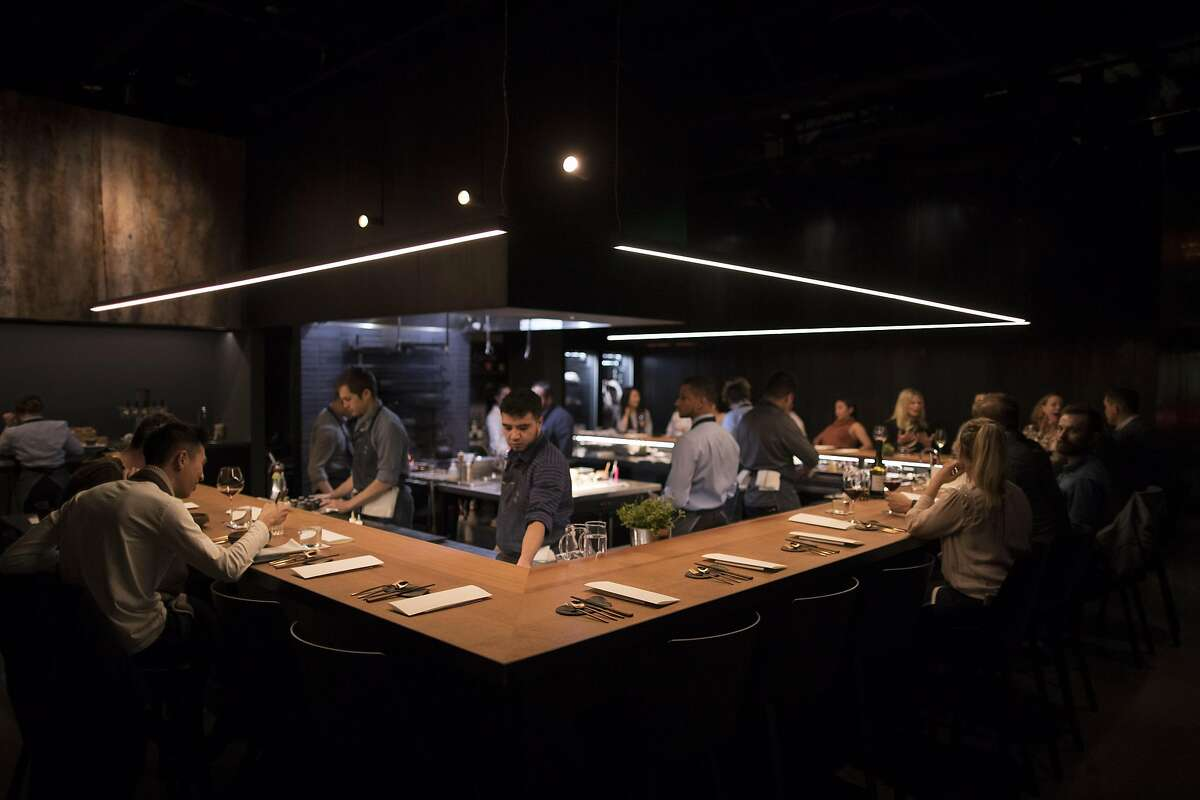 The dining room at Gozu restaurant where one of the specialties is Wagyu beef in San Francisco, Calif., on Wednesday, December 18, 2019.