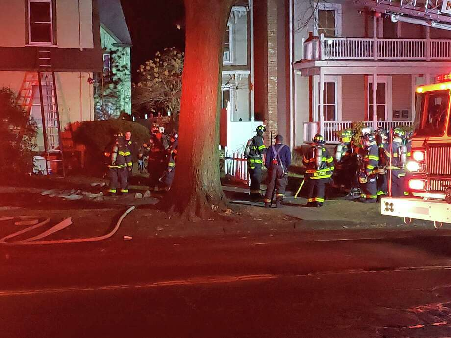 One person was rescued from a blaze at a multi-story home on Howard Avenue Thursday night on Jan. 2, 2019, according to city firefighters. Photo: Contributed Photo