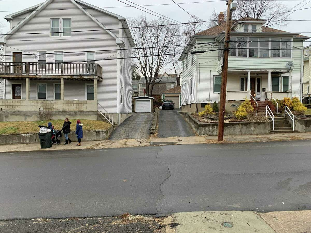 This is the area on Mrytle Avenue in Ansonia where police shot and killed a man after a domestic dispute on Thursday, Jan. 2, 2020.
