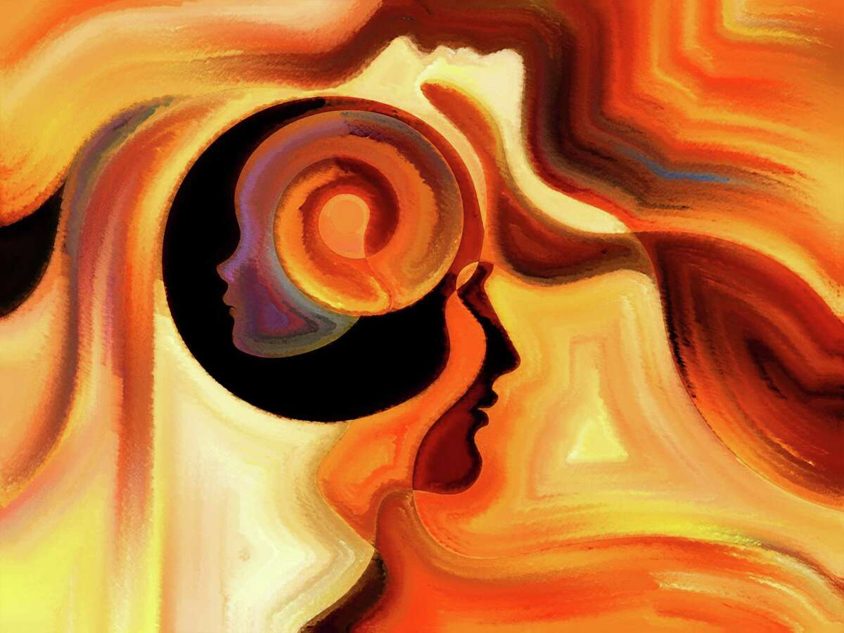Colors of the Mind series. Composition of elements of human face, and colorful abstract shapes to serve as a supporting backdrop for projects on mind, reason, thought, emotion and spirituality