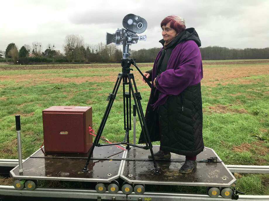 """Filmmaker Agnes Varda revisits the set of """"Vagabond"""" to explain her strategy with tracking shots in the film in the documentary """"Varda By Agnes"""" (2019). Photo: Janus Films"""