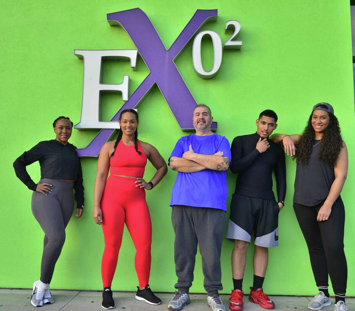 Trinell Maxie, from left, Mariah Sexton, Edwin Broussard, Joseph Brooks and Erikka Walker at Exygon Health and Fitness.