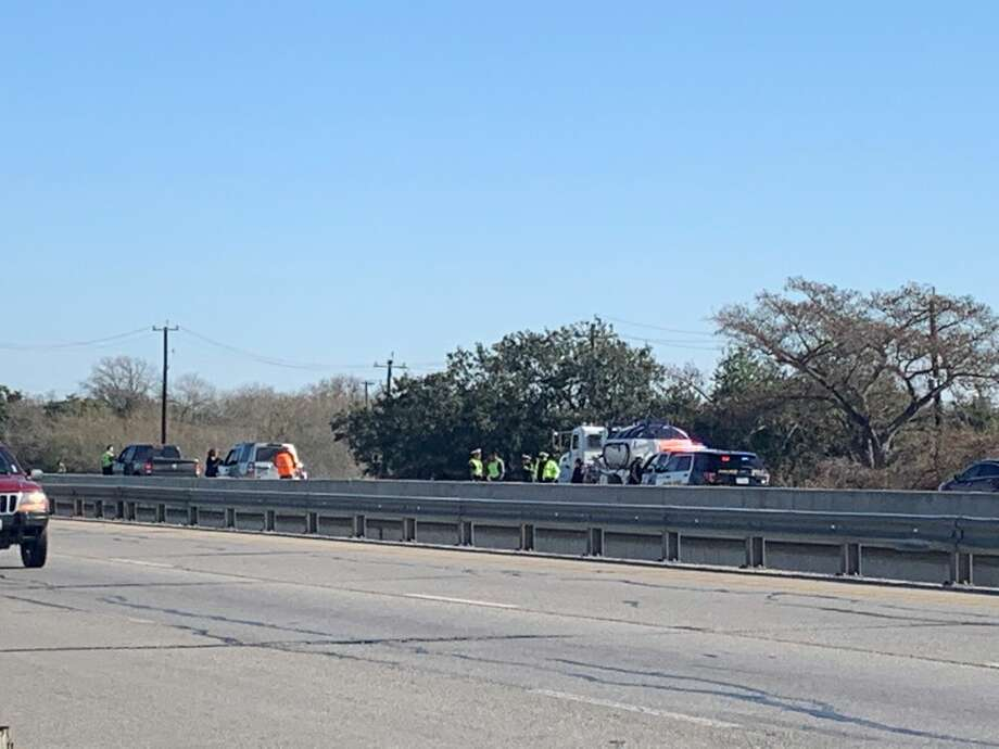 San Antonio police have shut down northbound Interstate 35 near Old Pearsall Road on the Southwest Side after a fatal crash Friday morning. Photo: Taylor Pettaway