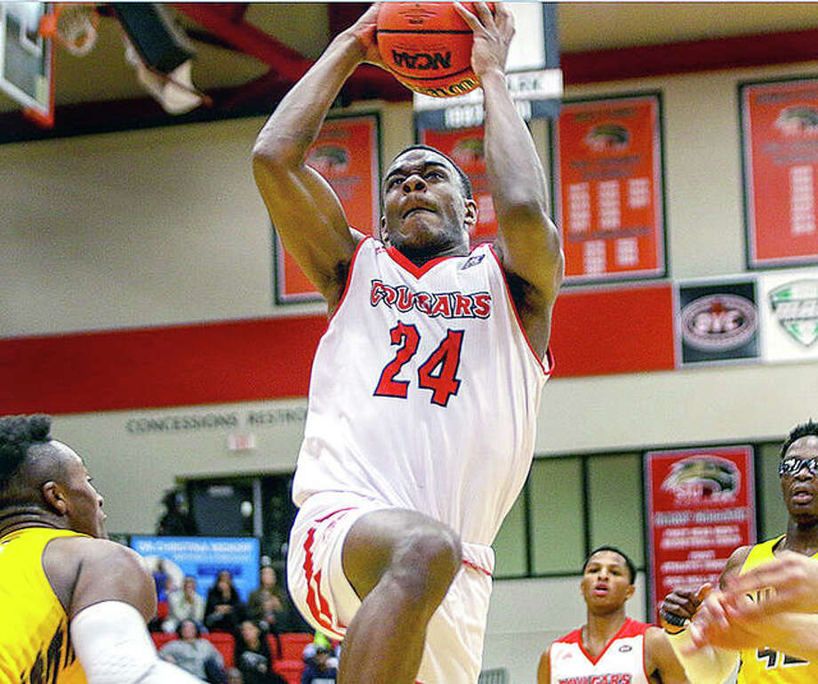 SIUE's Cam Williams collected his first career double-double with 13 points and 12 rebounds in a 79-69 victory over Ohio Valley Conference favorite Belmont Thursday night in Nashville, Tenn. Photo: SIUE Athletics