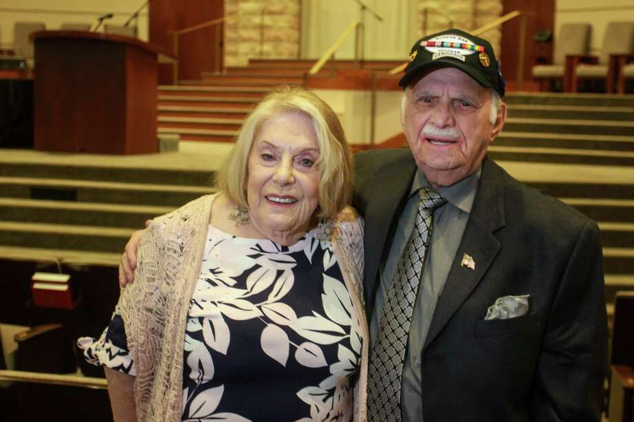 Holocaust Survivors Ruth Steinfeld and Bill Orlin at the 2019 Yom HaShoah Commemoration. Photo: Gary Fountain Photo Courtesy Of Holocaust Museum Houston / © 2019 Gary Fountain Telephone: 713-231-6178