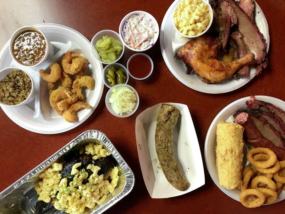 A selection of menu items from Brooks BBQ & More Photo: Paul Stephen / Staff