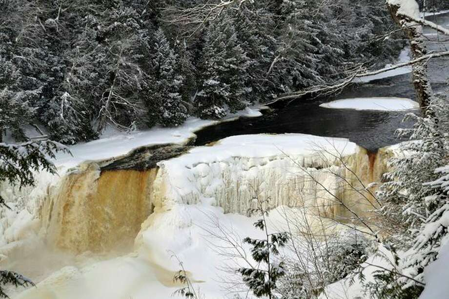 Winter view of the Upper Tahquamenon Falls, one of Michigan's most photographed places. (Courtesy Photo)