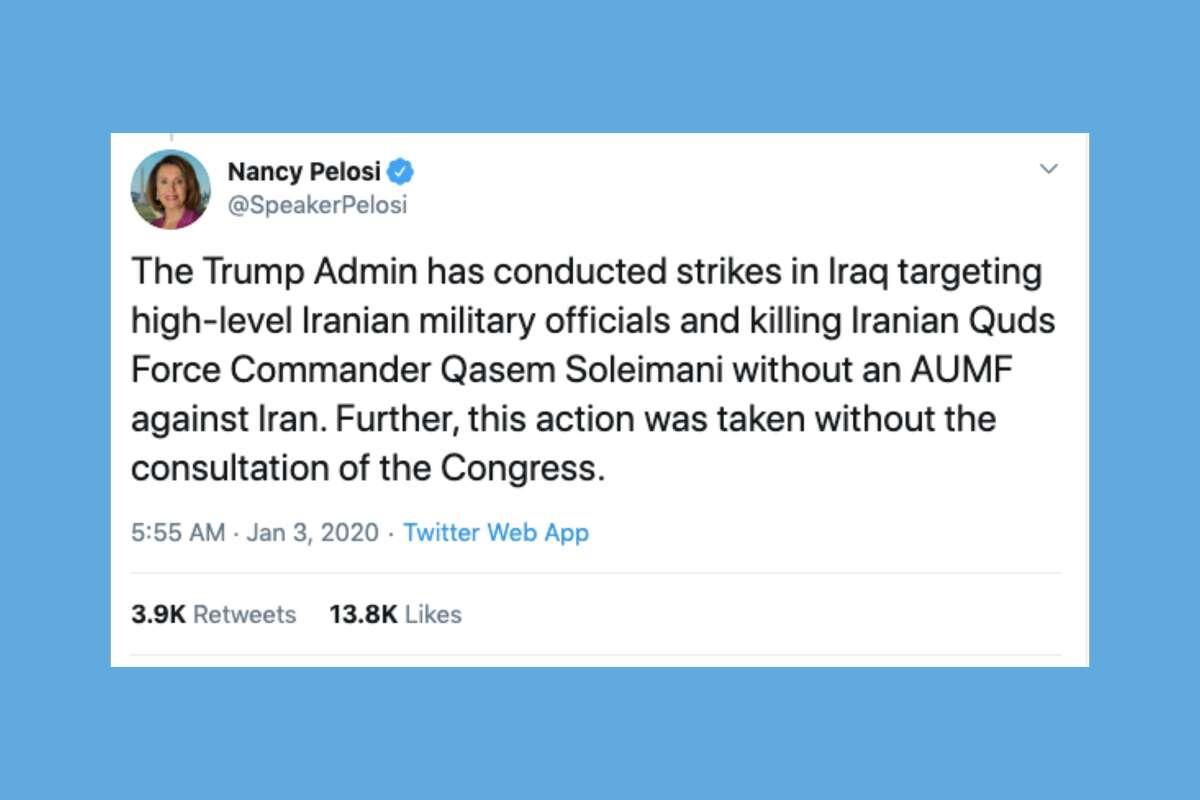 Bay Area Democrats react to the killing of Gen. Qassem Soleimani.