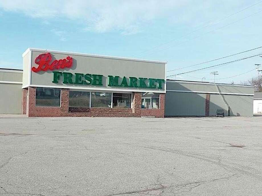 "After more than a year's delay, progress is being made to have a grocery store in Cass City once again. A sign, ""Ben's Fresh Market,"" is in place at 6233 Church St., which is the site of the former Erla's Food Center that closed in September 2014. (Mary Drier/For the Tribune)"