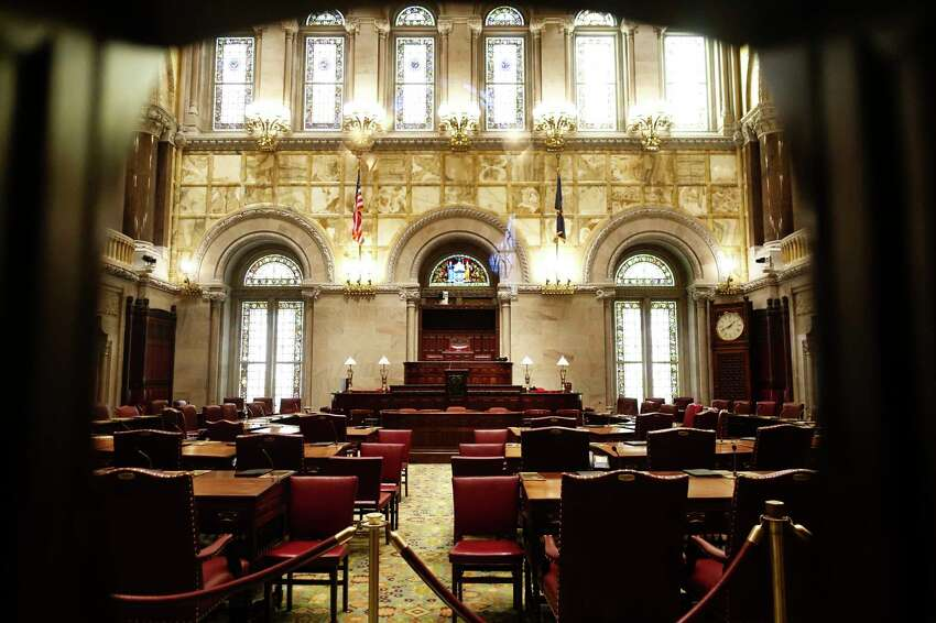 A view of the New York State Senate chamber on Thursday, Jan. 2, 2020, in Albany, N.Y. (Paul Buckowski/Times Union)