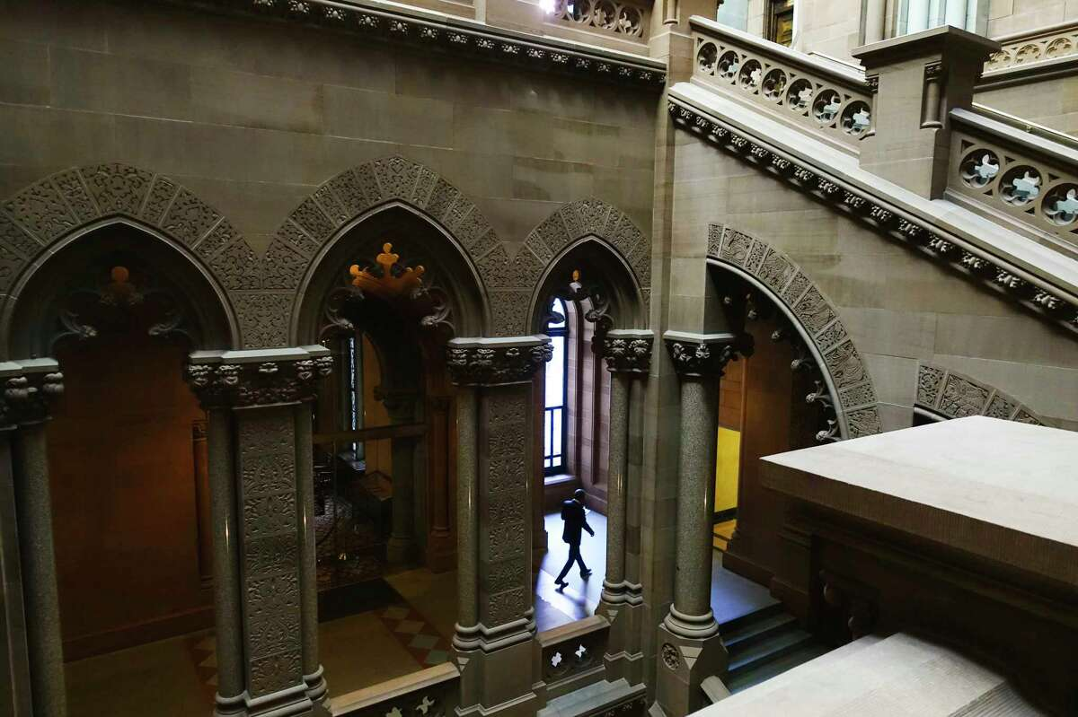A view of the third floor inside the New York State Capitol on Thursday, Jan. 2, 2020, in Albany, N.Y. (Paul Buckowski/Times Union)