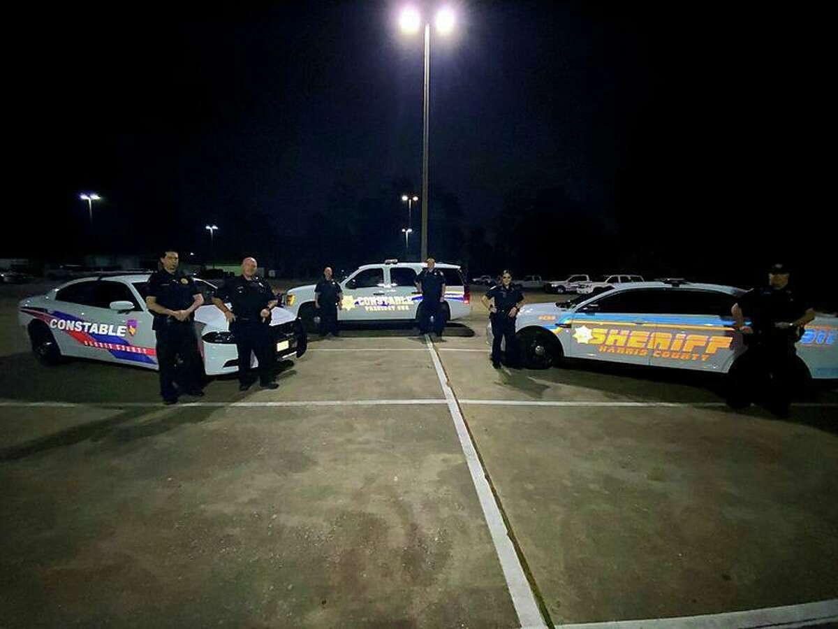 Harris County law enforcement, shown in the photo from before the pandemic, implement initiatives to thwart drunk driving and burglary during the holidays.