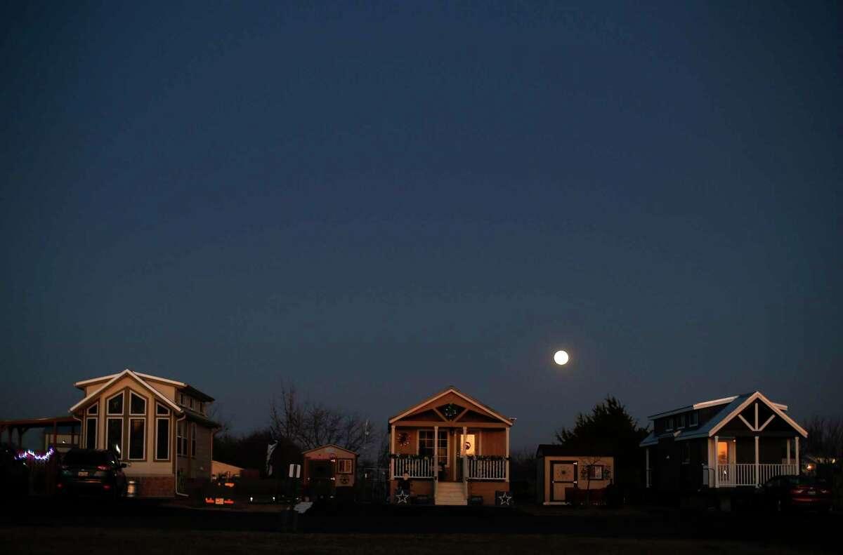 Moonrise at Bluebonnet Ridge RV Park & Cottages on Wednesday, Dec. 11, 2019 in Terrell.