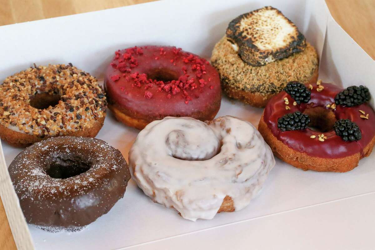 A selection of donuts from Maybelle's Donuts.