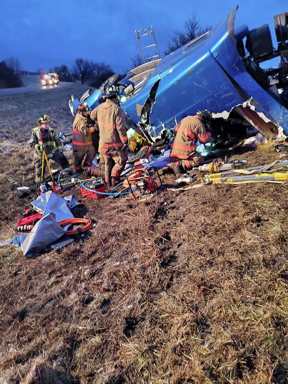 A scene from the accident on Dec. 2 at Interstates 55 and 70.