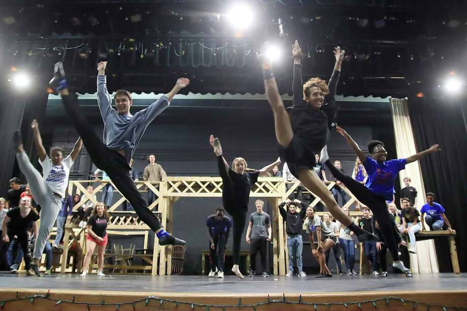 """Dickinson High School's musical """"Newsies"""" is the school's entry in this year's Tommy Tune Awards. Photo: Pin Lim, Contributer / For The Chronicle / Copyright Forest Photography 2019."""